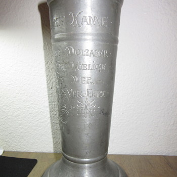 Freemasons Pewter Inscribed Mug Stein marked on Bottom - Breweriana