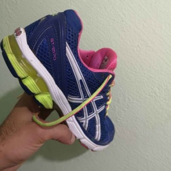 used blue asus sneakers  - Shoes
