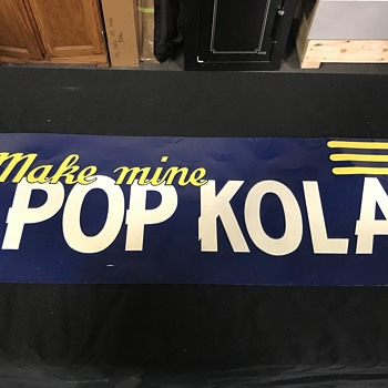 Pop kola soda sign  - Signs