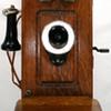 Vintage Oak Kellogg Cathedral Wall Telephone