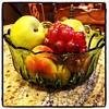 Simple elegance...green depression glass, fruit bowl