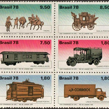 "Brazil - ""Mail Transportation"" Postage Stamps - Stamps"
