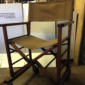 Antique gold medal  directors chair