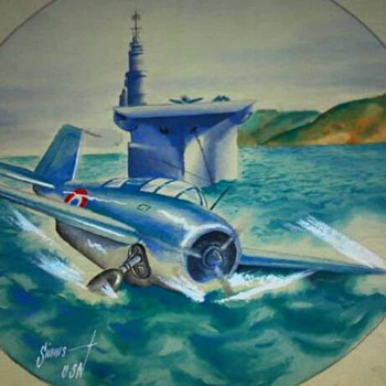 WW2 ORIGINAL ARTWORK DONE IN THE PACIFIC  - Military and Wartime