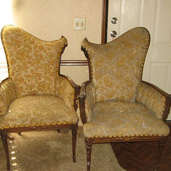 Mom's pair of chairs. - Furniture