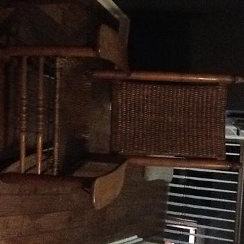 Burdett Chair Mfg., Co., Rocking Chair with basket seat