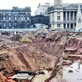 1971-Birmingham uk-the new central lending library under  construction. - Photographs