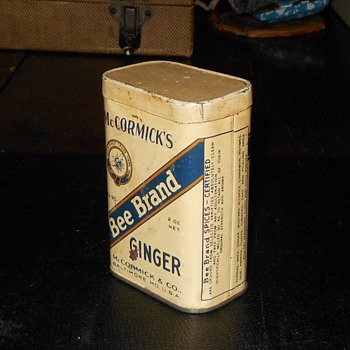 McCormick's Bee Brand Ginger Pre 1941