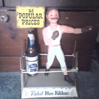 Rare Pabst Blue Ribbon Boxer Display - Breweriana