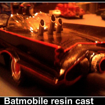 A better shot of my 1/25 scale resin Batmobile...