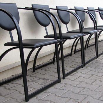 Elegantly curved chairs