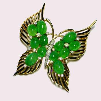 Another Gorgeous Butterfly From Trifari - Costume Jewelry