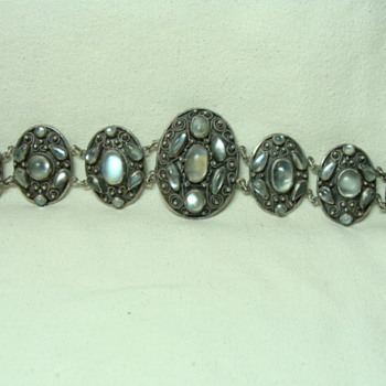 Antique Silver Moonstone Bracelet - Fine Jewelry
