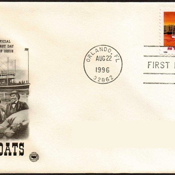 "1996 - ""Sylvan Dell Riverboat"" Stamp First Day Cover - Stamps"