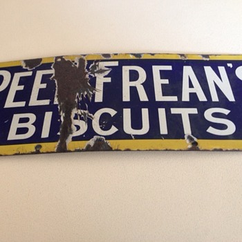 Peek Freans Biscuit Sign