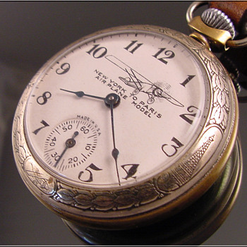 Ingraham New York to Paris Lindbergh pocket Watch - Pocket Watches