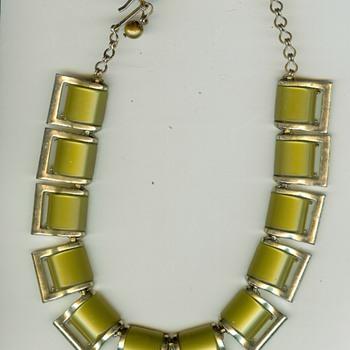 Vintage Lucite Chocker Necklace
