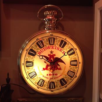 Budweiser stopwatch  clock  - Breweriana