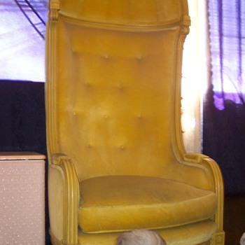 High Back Retro Chair - Furniture