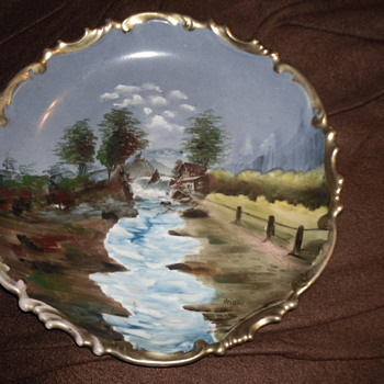 Hand Painted Plate  - Pottery