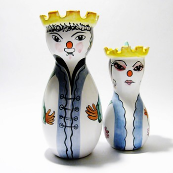 VINTAGE ITALIAN SALT &PEPPER  - Pottery