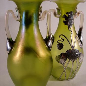 Loetz Diana Glatt PN II-146 vases - Art Glass