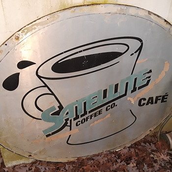 a 'local item' - old SATELLITE CAFE restaurant sign - Advertising