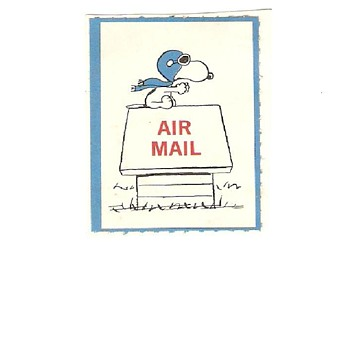 Totally cool vintage snoopy (peanuts) stamp I think i have the only one online - Advertising