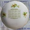 1909 calendar plate