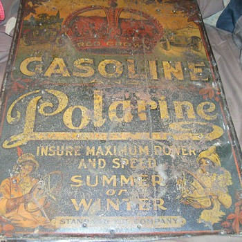 early red crown gasoline sign - Signs