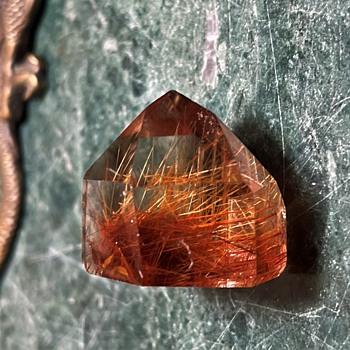Polished Rutilated Quartz Crystal  - Gemstones