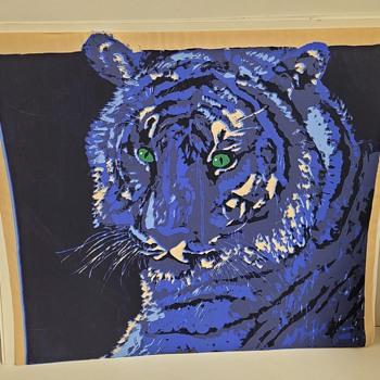 Silkscreen Tiger Art - Fine Art