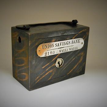 Promotional Advertising Bank, Union Savings Bank,Walla Walla, Circa 1900 - Coin Operated