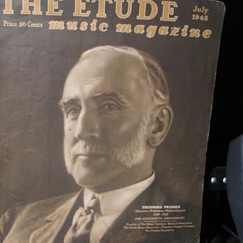 July, 1948 Etude Music Magazine - Paper