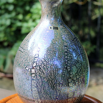 Two foiled vases by Kurata - Art Glass