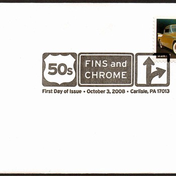 2008 - '57 Studebaker Golden Hawk Stamp First Day Cover - Stamps