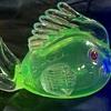 Uranium Millefiori Eyed Fish Labeled Arte Murano ICET Venezuela