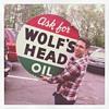 "36"" Wolf's Head Oil - Double Sided Tin"