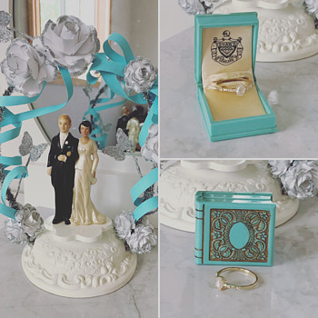 Aqua Book Ring Box - Fine Jewelry
