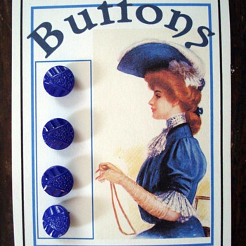 Antique Bohemian Buttons on My Cards - Sewing