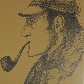 Patrick Varriano Artist Sketch Of Basil Rathbone As Sherlock Holmes 1997 - Fine Art