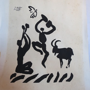 "PICASSO's ""Goat Dance"" or ""Dance with the Goat""  ORIGINAL or NOT????? - Posters and Prints"