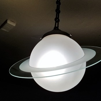 Art Deco Saturn Ceiling Light Fixture - Art Deco