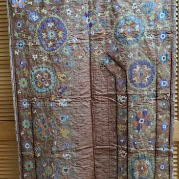Vintage/Antique Suzani Prayer Cloth - Rugs and Textiles