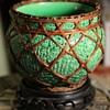 Awaji Bowl with texture and rattan basketry