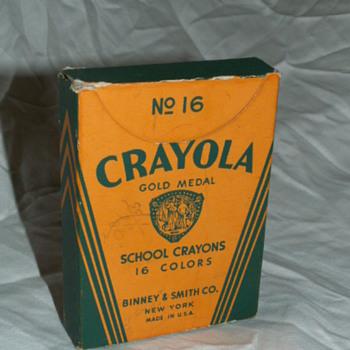 Antique No. 16 Crayola Crayons Box & Crayons ~ Binney & Smith Co. New York  - Office