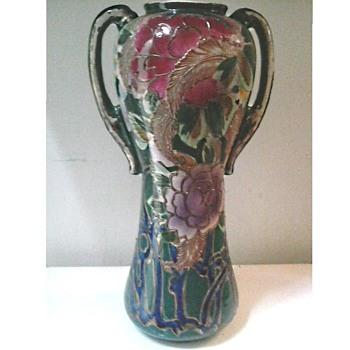 "Art Nouveau Style 12 "" Nippon Vase /Circa 1890"