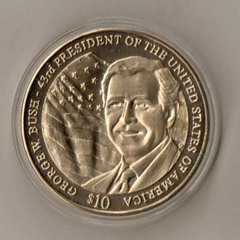 "2003 - Liberia ""George W. Bush"" Commemorative - World Coins"