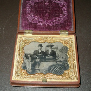 Great,Great Grandparents Tin Type - Photographs