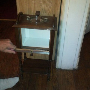 tobacco ashtray cabinet antique